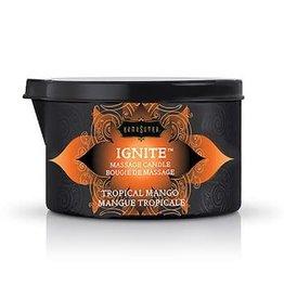 Kamasutra Ignite Tropical Mango Massage Candle - 6 Oz.