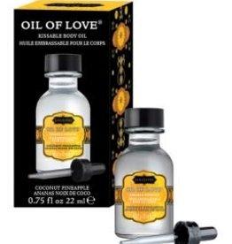 Kamasutra Oil of Love - Coconut Pineapple - 0.75 Fl. Oz. / 22 ml
