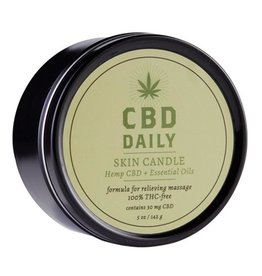 CBD Daily CBD Daily Skin Candle Hemp CBD And Essential Oils 100% Vegan 5.3 Ounce