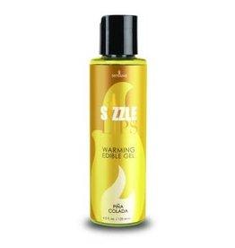 SENSUVA Sizzle Lips Warming Edible Gel - Pina Colada - 4.2 Fl. Oz. / 125 ml