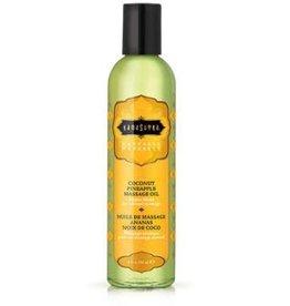 Kamasutra Naturals Massage Oil - Coconut Pineapple 8 Fl Oz