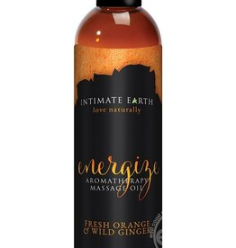 Intimate Earth Intimate Earth Energize Aromatherapy Massage Oil Fresh Orange & Wild Ginger 4 Ounce