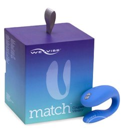 We-Vibe We Vibe Match Silicone Couples Wireless Remote Controll USB Rechargeable Vibrator Waterproof Periwinkle