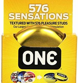One Condoms One 576 Sensations Condoms - Box of 3