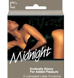 Contempo Contempo Midnight Latex Condoms 3pk