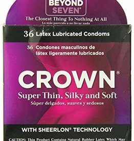Beyond Seven Crown Lubricated Condoms - Box of 3