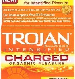 Trojan Trojan Intensified Charged Orgasmic Pleasure Condoms 3pk