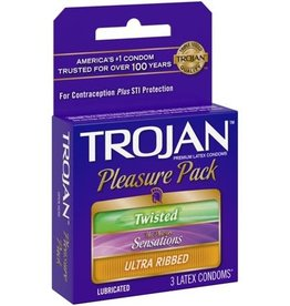 Trojan Trojan Pleasure Pack Condoms - Box of 3