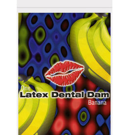 Top Cat International Latex Dental Dam - Banana
