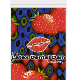 Top Cat International Latex Dental Dam - Strawberry