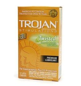 Trojan Trojan Twisted Pleasure Condoms - Box of 12