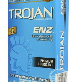 Trojan Trojan Condom Enz Lubricated 12 Pack