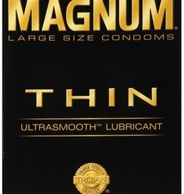 Trojan Trojan Condom Magnum Thin Large Size Lubricated 12 Pack