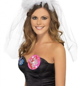 Smiffy's Hen Night Veil Headband - White