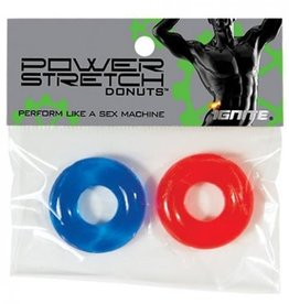 SI Novelties Power Stretch Donuts - 2 Pack - Red and Blue