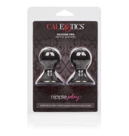 California Exotic Novelties Nipple Play Silicone Pro Nipple Suckers - Black