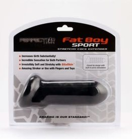 Perfect Fit Fat Boy Sport Stretchy Cock Extender - Black