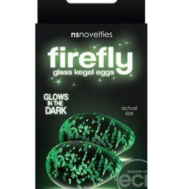 NSN Firefly Glass Glow In The Dark Kegel Eggs Clear