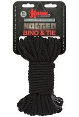 KINK by Doc Johnson Hogtied - Bind & Tie - 6mm Hemp Bondage Rope - 50 Feet - Black