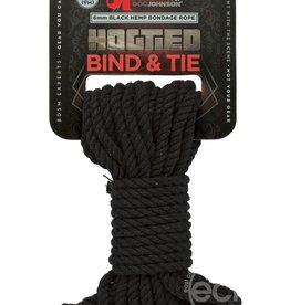 Doc Johnson's Kink Hogtied - Bind & Tie - 6mm Hemp Bondage Rope - 30 Feet - Black