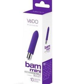 VeDO Bam Mini Rechargeable Bullet Vibe - Indigo