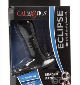 CALEXOTICS Eclipse Beaded Probe USB Rechargeable Silicone Anal Vibe Waterproof Black 5 Inches