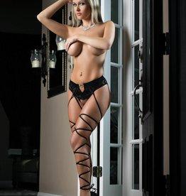 G World Basic Instinct Panty Stocking Black O/S