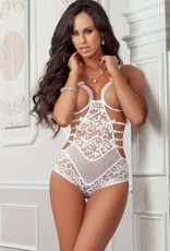 G World 1pc Strappy Open Cups Teddy - One Size - White