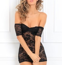 Rene Rofe Seductively Stunning Lace Dress - Small/ Medium - Black