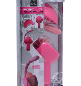 love botz Love Botz Robo Lick 60X Plus Rotating Dual Stimulator Pink 5.75 Inch