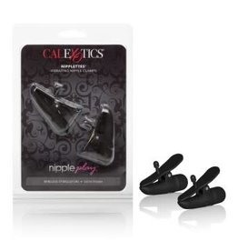 California Exotic Novelties Nipple Play Nipplettes Vibrating Nipple Clamps - Black