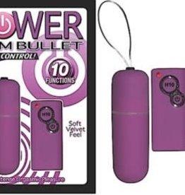 NassToys Power Slim Bullet Remote Control - Purple