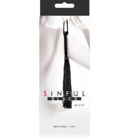 nsnovelties Sinful Whip - Black