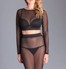 Be Wicked Selena Set - 2pc Mesh Top and Skirt - L