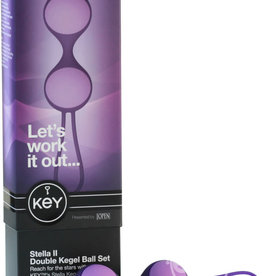 JOPEN Key Stella II Double Kegel Ball Set Silicone Purple