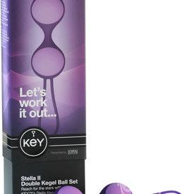 JOPEN Key Stella II Double Kegel Ball Set Silicone Purple