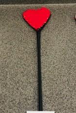 """Kookie INTL 26"""" Red Heart Fleece Riding Crop"""