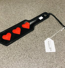 KOOKIE INTL Black Patent Red Heard Pocket Paddle