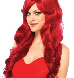 Leg Avenue Long wavy red wig with adjustable strap O/S RED