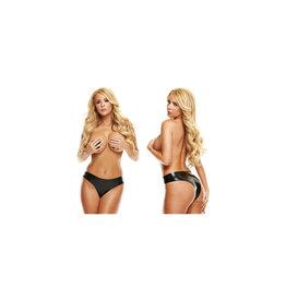 Latex Wear Premium Latex Brazillian Bikini - Black S/M