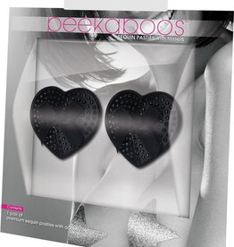 Eye Candy BLACK SATIN WITH BLACK STONE & BOW PASTIES