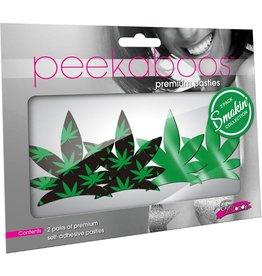 Eye Candy Peekaboos Up in Smoke Leaves O/S