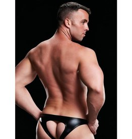 Envy Open Back Lowrise Brief - Black - Medium/Large