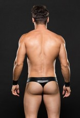 Envy 3pc Biker Thong, Cuffs, Hat - Medium/Large