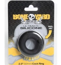 Rascal - Boneyard Boneyard Ultimate Silicone Cock Ring - Black