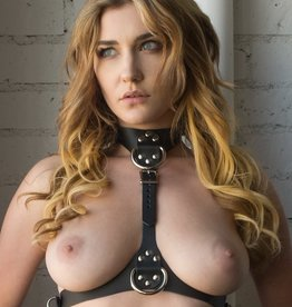 Stockroom Vondage Vegan Leather Bust Harness - Black - OS