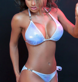 Just to Flirt Bikini Set with Flower Stud and Side Tie - OS