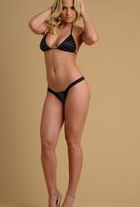Just to Flirt Rhinestone Bikini Set - OS