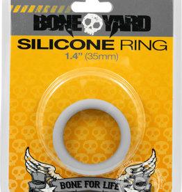 Rascal - Boneyard Bone Yard Silicone Ring Cockring Grey 1.4 Inch Diameter