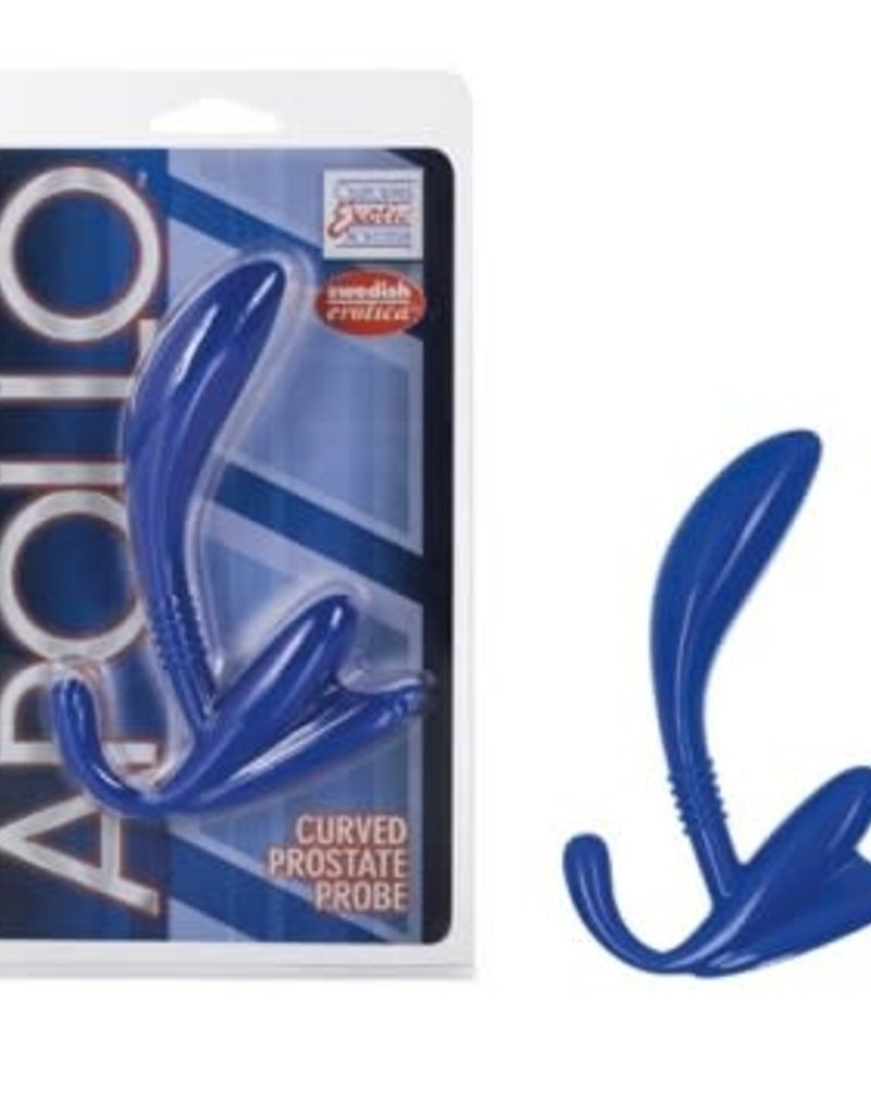 California Exotic Novelties Apollo Curve Prostate Probe - Blue